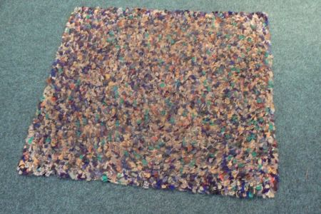 A rag rug made by a DDS member.